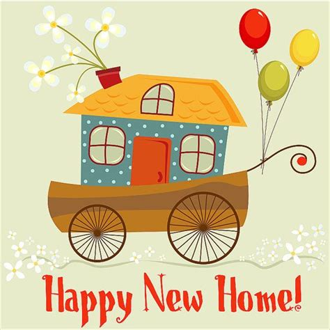new home card template quot happy new home quot card digital card clip