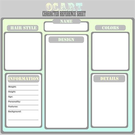 character card templates character profile template http webdesign14