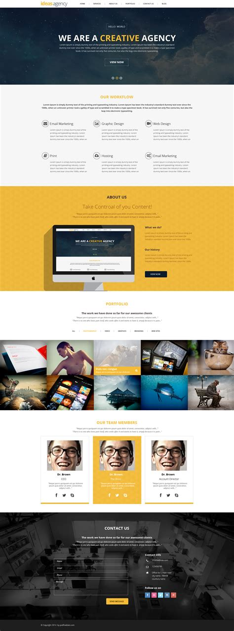 download free magazine style corporate website homepage