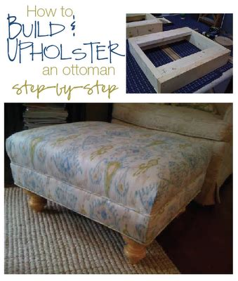 how to reupholster a round ottoman how to build and upholster an ottoman