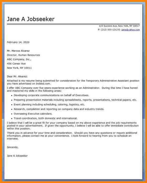 administrative assistant cover letter with salary