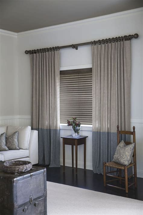 living room blinds and curtains blinds 2 quot cordless wood binds in vintage ashen 16323