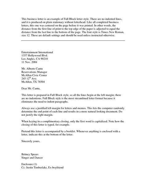 Business Letter Writing Meaning meaning full block style business letter template cover letter