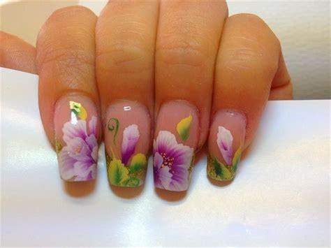 easy nail art one stroke one stroke by nina86 nail art gallery nailartgallery