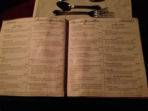 Berns Dessert Room Menu by Menu Picture Of Harry Waugh Dessert Room At Bern S Steak
