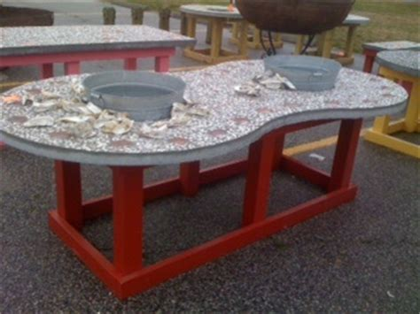 oyster shucking table for the home