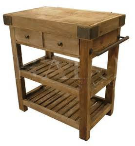 kitchen island butcher s block old reclaimed elm iron new