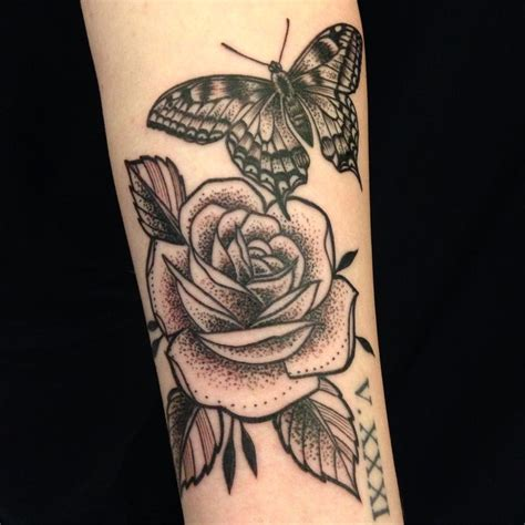butterfly rose tattoo from best ink 17 best ideas about and butterfly on