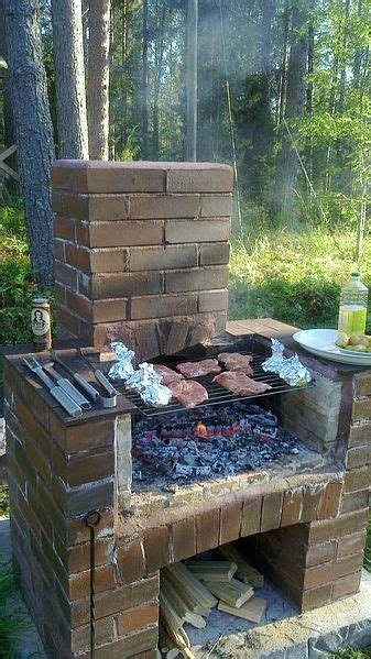 Wood Patio File Wood Heated Outdoor Barbecue Jpg Wikimedia Commons