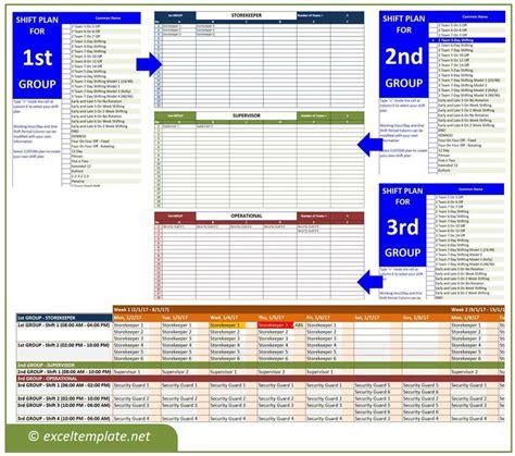 excel employee schedule employee shift schedule excel template