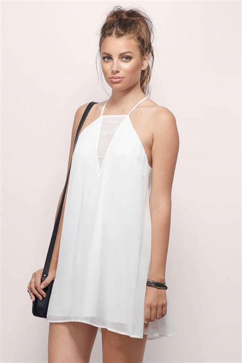 whats a swing shift what s not to love white mesh swing dress 42 00 tobi