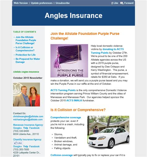 Insurance Newsletters Angles Insurance October 2015 Insurance Agency Newsletteroctober 2015 Insurance Agency