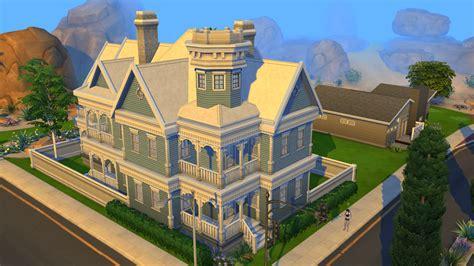 sims 4 blue victorian house by ramborocky on deviantart