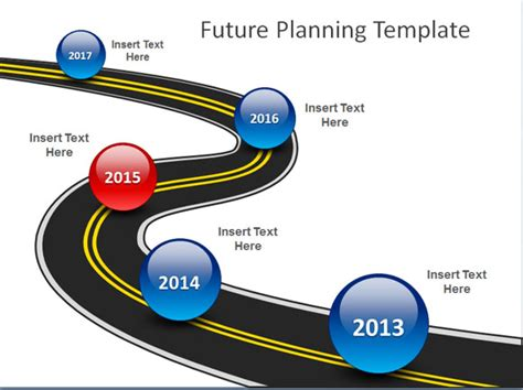 road map powerpoint template using similes and metaphors in presentations powerpoint
