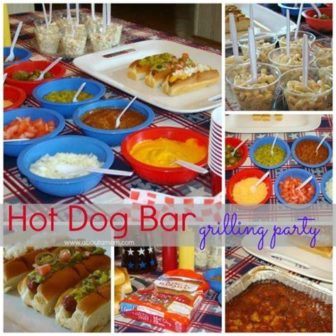 hot bar themes hot dog bar grilling party wedding ideas pinterest