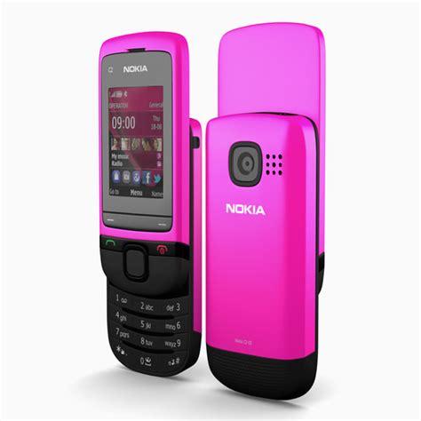 nokia c2 pink themes 3d nokia c2 05 pink model