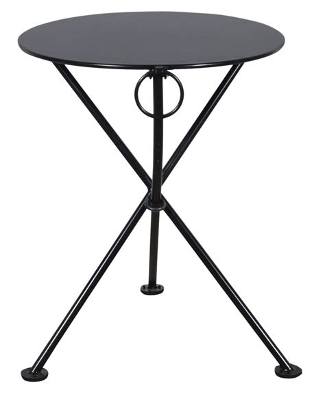 Folding Bistro Table Metal Furniture Designhouse Caf 233 Bistro 3 Leg Folding Bistro Table Jet Black Frame
