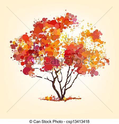 clipart alberi autunno blots albero fondo vettore