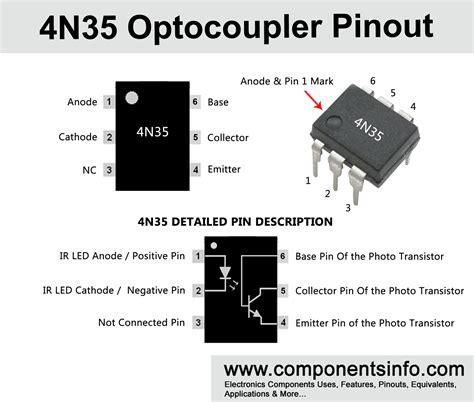 optocoupler pinout datasheet equivalent