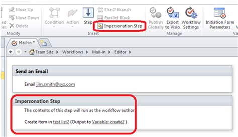 sharepoint 2010 workflow impersonation step sharepoint designer workflow using impersonation