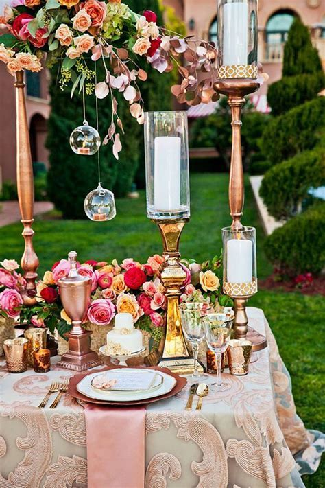 40 Rose Gold Metallic Wedding Color Ideas ? Hi Miss Puff