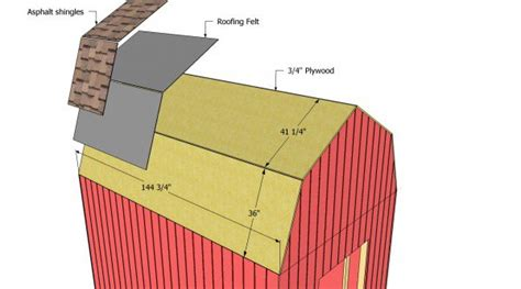 Replace Shed Roof by Gambrel Shed Plans Myoutdoorplans Free Woodworking