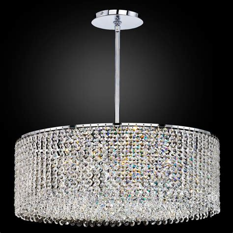 Crystal Drum Chandelier Urban Chic 596 ? GLOW® Lighting