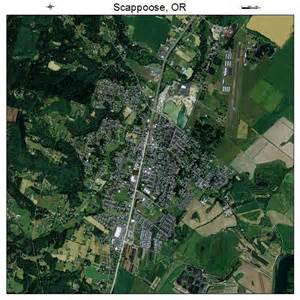 aerial photography map of scappoose or oregon