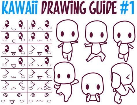 guide to drawing kawaii reference archives how to draw step by step