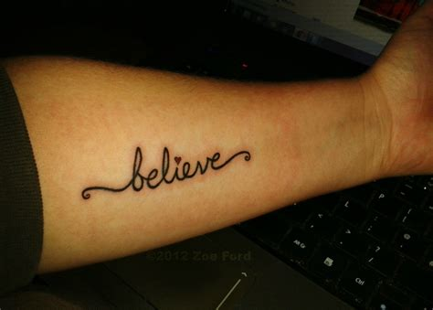 believe tattoo tattoos pinterest
