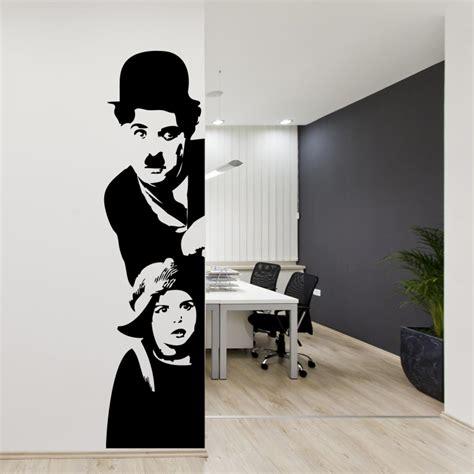Vinyl Wall Stickers Quotes adesivi da parete adesivo murale quot charlie chaplin il