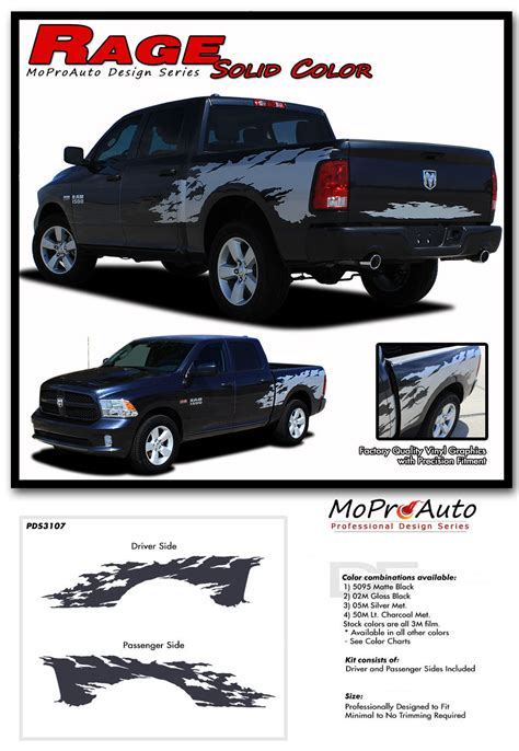 truck bed decals 2016 dodge ram rage solid color truck bed 3m vinyl