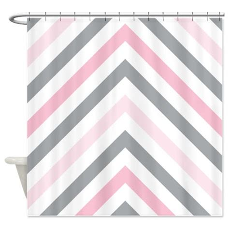 light grey chevron curtains chevron shower curtain modern grey light pink and white