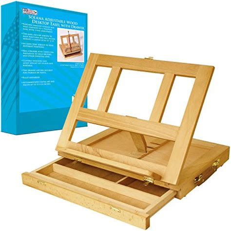Table Easel With Drawer by Wood Desk Easel Drawer Painting Storage Stand Tabletop