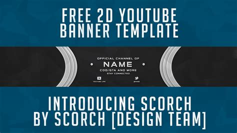free youtube banner template 2d psd free gfx youtube