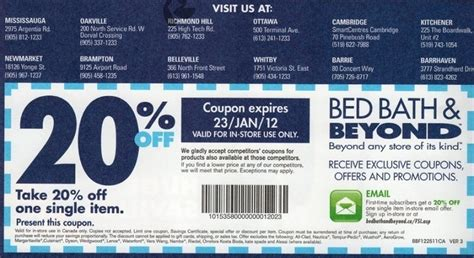 Bed Bath Betond Coupon by Bed Bath And Beyond Printable Coupon Codes Mei 2013