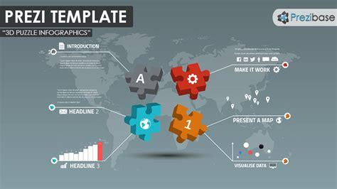 3d puzzle infographics prezi template prezibase
