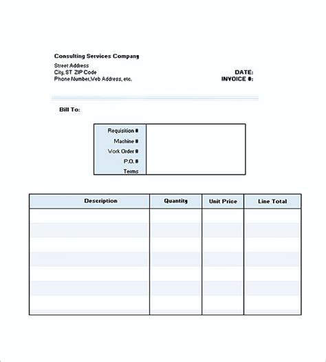 Mba Independent Consulting Course Exle by Consultant Invoice Template