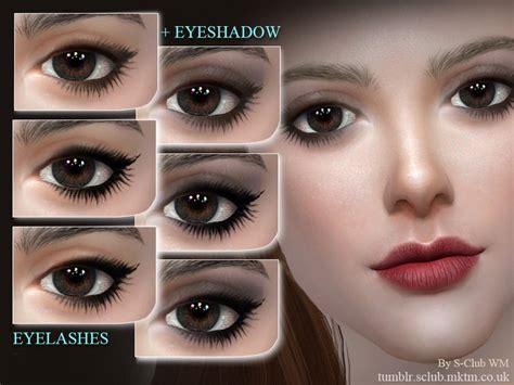club wm ts eyelashes   sims  catalog