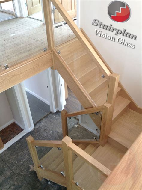 wood and glass banister stair magnificent image of home interior stair design ideas using half turn solid