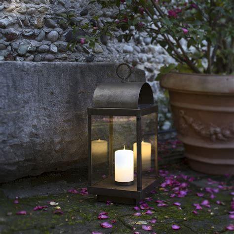 lanterna per candela lanterna da giardino con candela in ferro o ottone il fanale