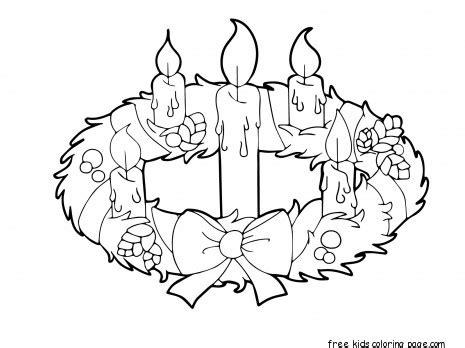 preschool advent wreath coloring page printable advent wreath candles coloring page for kidsfree