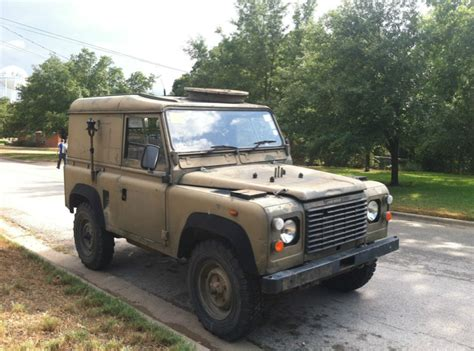 land rover mod 1986 land rover defender 90 ex mod with turret plus x p