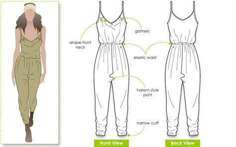pattern drafting jumpsuit ruby jumpsuit fashion technical drawings pinterest