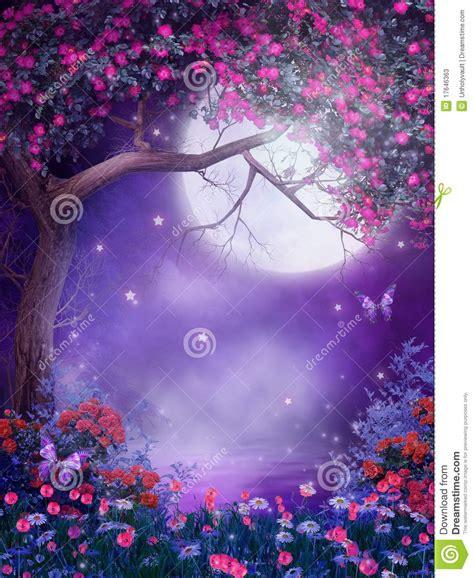 imagenes de fantasias mitologicas 193 rbol de la fantas 237 a con las flores stock de ilustraci 243 n