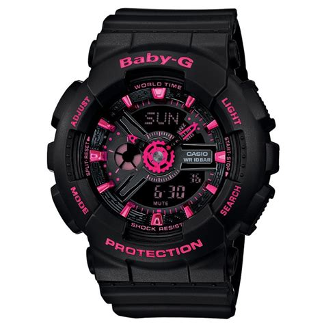 Gshock Baby G Black Pink casio g shock baby g collection baby g black and pink