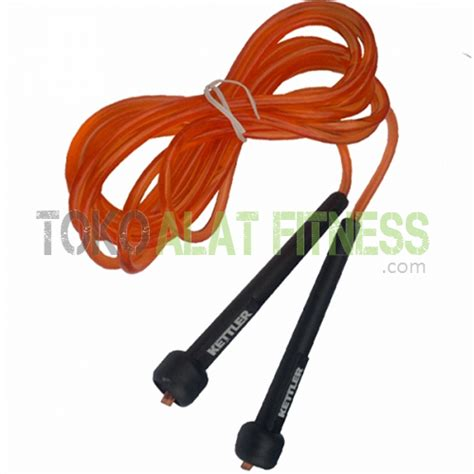 New Alat Fitness Jym Lompat Tali Tali Skipping Speed Rope Fitness kettler skiping speed orange toko alat fitness