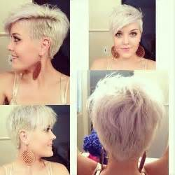 sided hair cuts to the back trendy platinum blonde shaggy haircut with long side swept