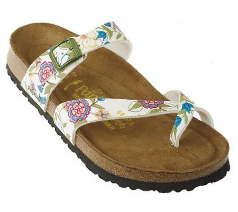 flowered birkenstock sandals papillio by birkenstock tabora paint stitch flower