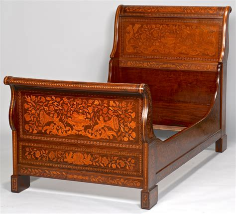 twin sleigh bed lot 638 continental inlaid sleigh bed twin size